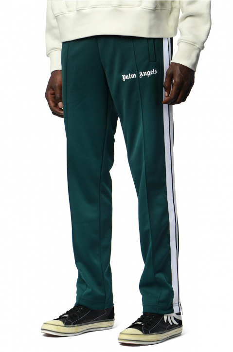 PALM ANGELS Classic Dark Green Trackpants  0
