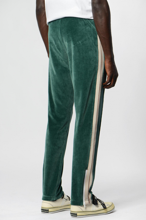 PALM ANGELS Chenille Pine Green Trackpants  1