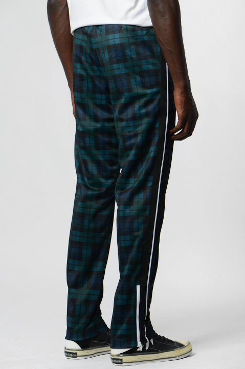 PALM ANGELS Black/Teal Checks Classic Trackpants  2