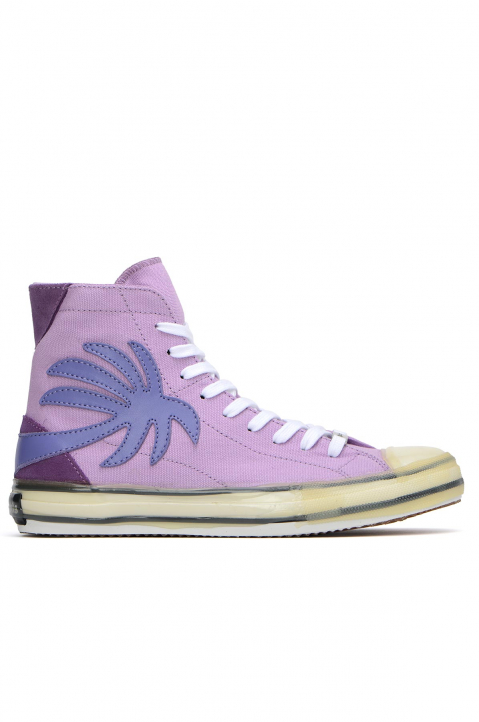 PALM ANGELS Palm Purple Vulcanized Hi Top Sneakers 0