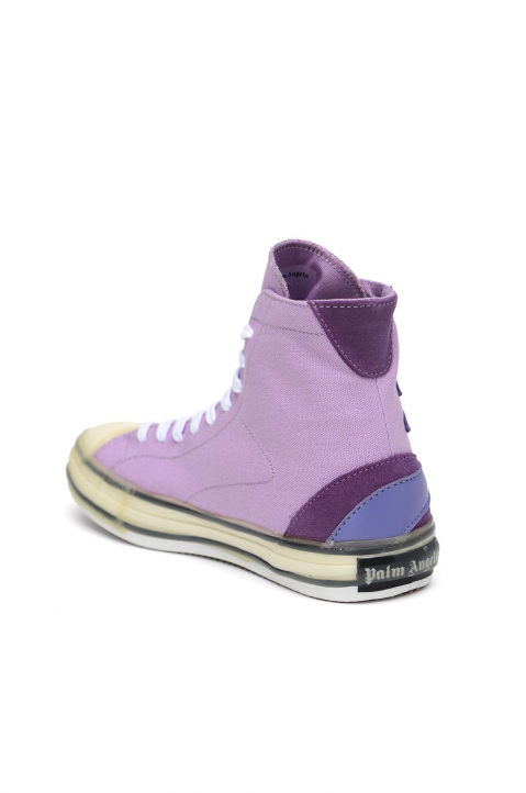 PALM ANGELS Palm Purple Vulcanized Hi Top Sneakers 2