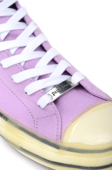 PALM ANGELS Palm Purple Vulcanized Hi Top Sneakers 3