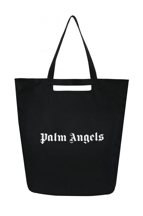 PALM ANGELS Black Logo Shopper Bag 0