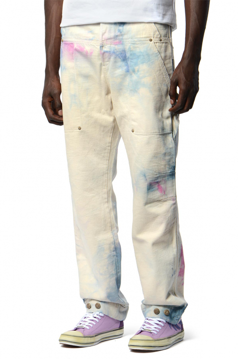PALM ANGELS Tie-Dye Workpants 0