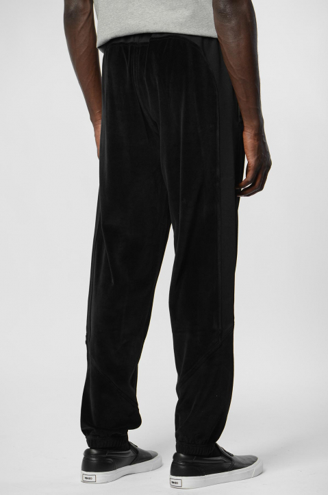 KENZO Black Cotton Velvet Trackpants 2
