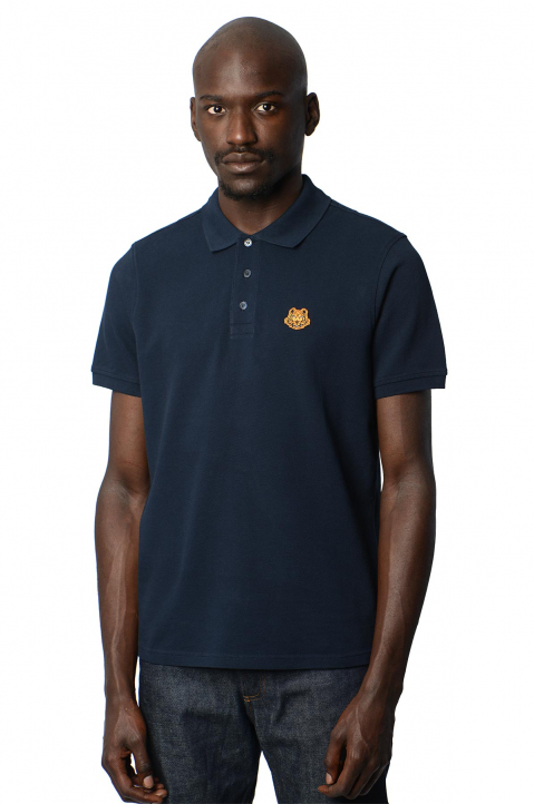 KENZO Fittet Navy Tiger Polo-Shirt  0