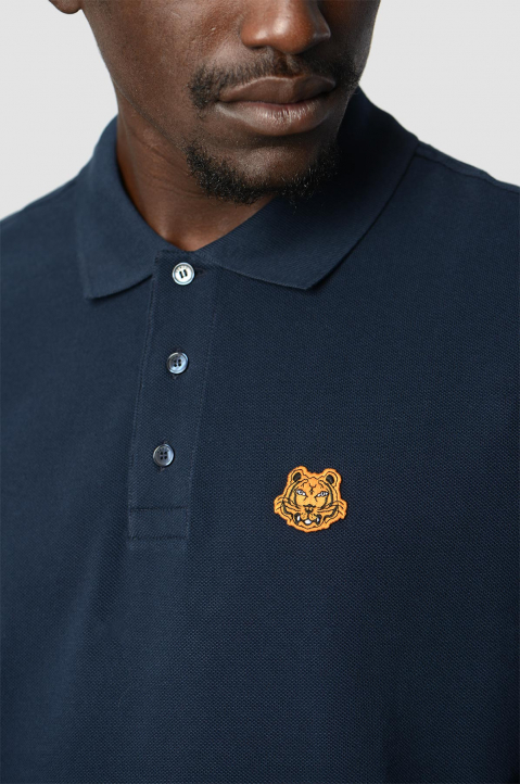 KENZO Fittet Navy Tiger Polo-Shirt  2