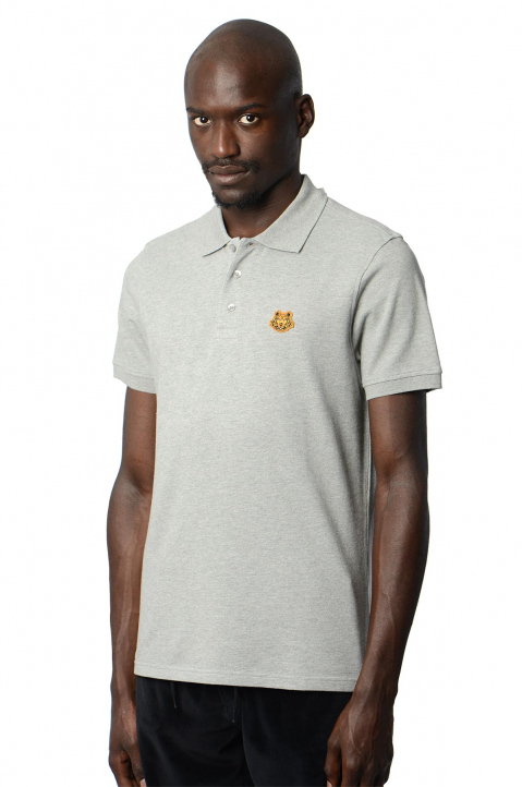 KENZO Fittet Grey Tiger Polo-Shirt 0