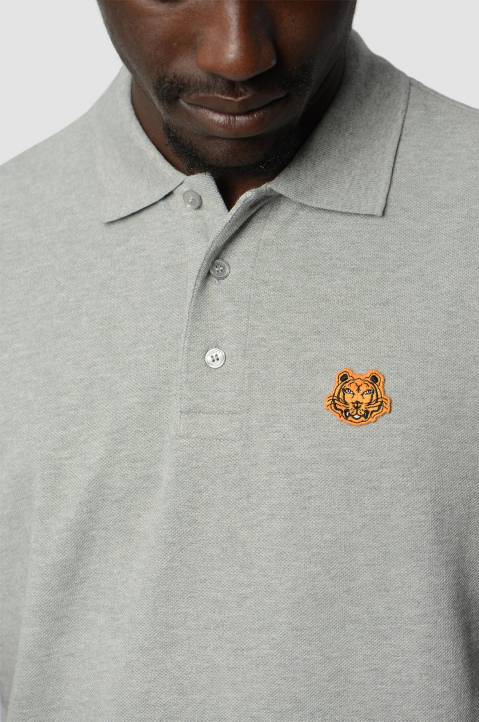 KENZO Fittet Grey Tiger Polo-Shirt 2