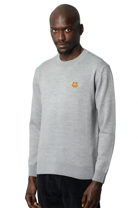 KENZO Tiger Grey Knit Sweater 0