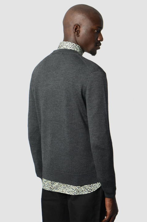 KENZO Logo Dark Grey Knit Sweater 1