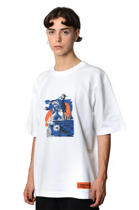 HERON PRESTON Herons Embroidery White Tee 0