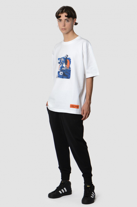 HERON PRESTON Herons Embroidery White Tee 3