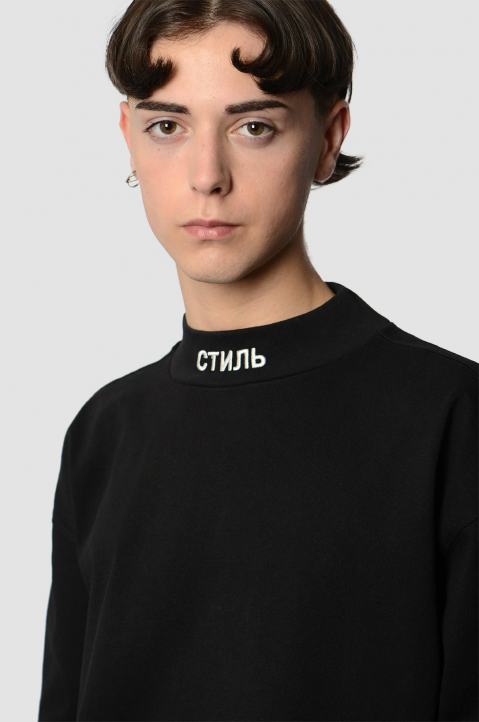 HERON PRESTON CTNMB Black Sweatshirt 2