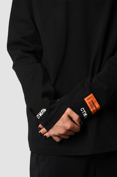 HERON PRESTON CTNMB Black Sweatshirt 3