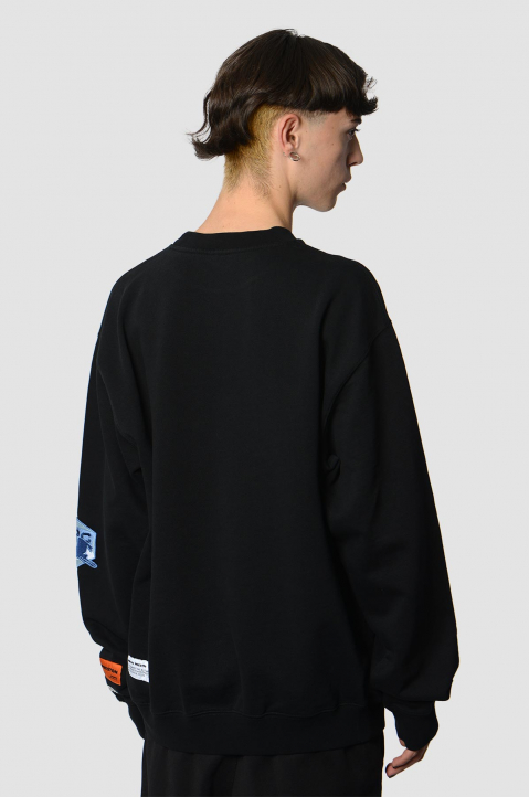 HERON PRESTON HP CO. Black Sweatshirt  1