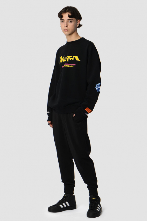 HERON PRESTON HP CO. Black Sweatshirt  3