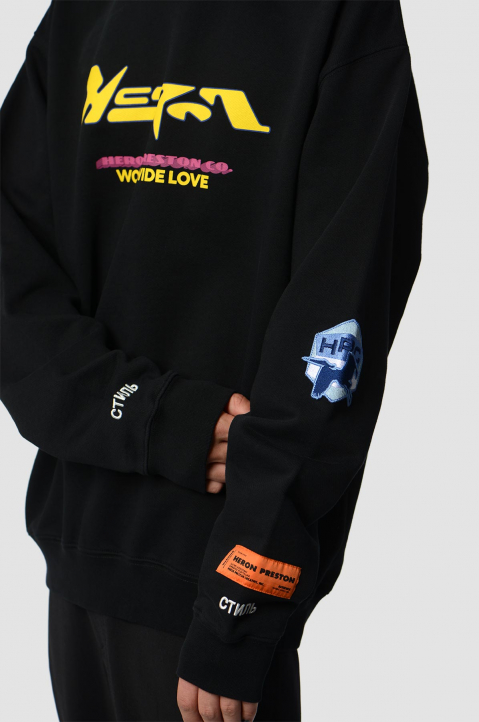 HERON PRESTON HP CO. Black Sweatshirt  2