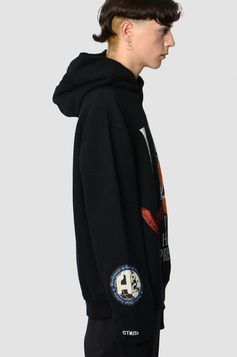 HERON PRESTON Collage Black Hoodie  2