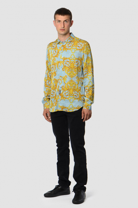 VERSACE JEANS COUTURE Slim Denim Barocco Shirt 2