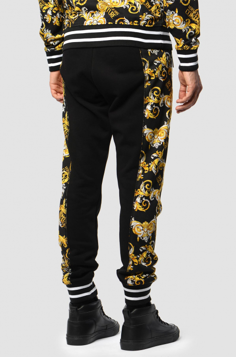 VERSACE JEANS COUTURE Barocco Black Joggers 1