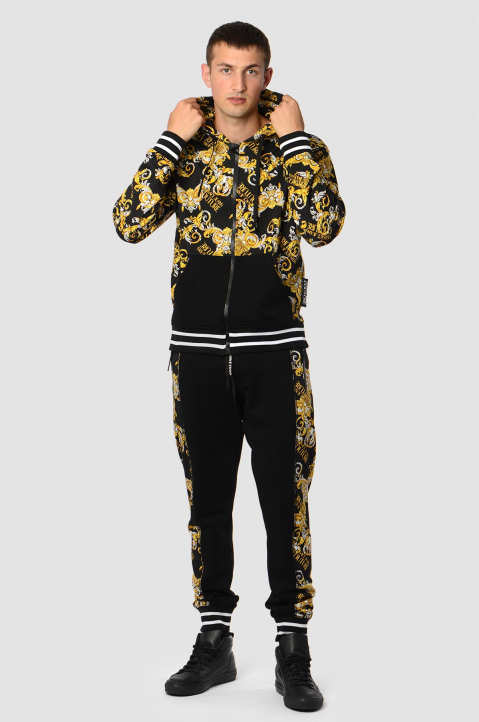 VERSACE JEANS COUTURE Barocco Black Joggers 3