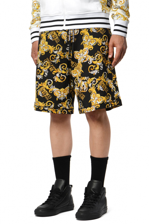 VERSACE JEANS COUTURE Barocco Black Shorts  0