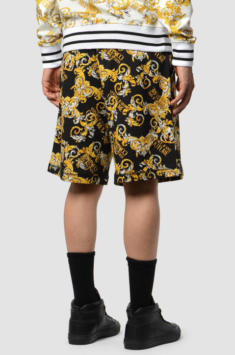 VERSACE JEANS COUTURE Barocco Black Shorts  1