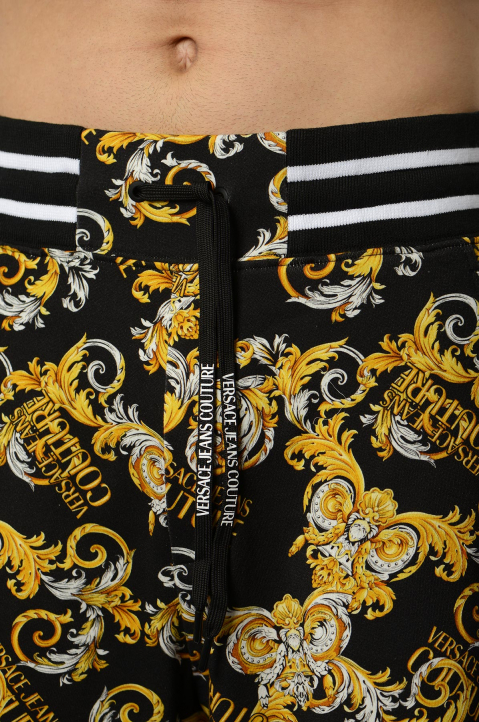 VERSACE JEANS COUTURE Barocco Black Shorts  2