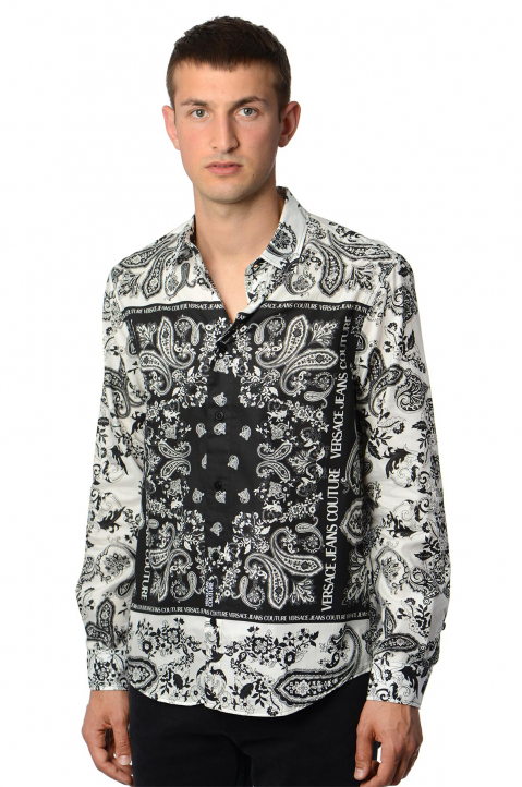VERSACE JEANS COUTURE Panel Bandana White Shirt 0