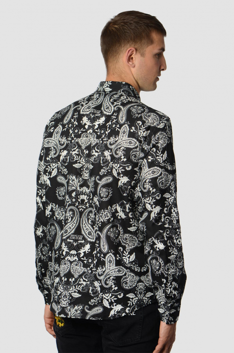 VERSACE JEANS COUTURE Panel Bandana Black Shirt  1