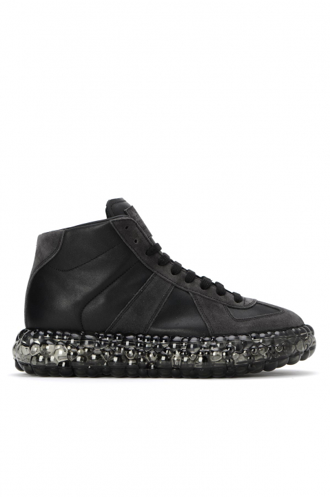 MAISON MARGIELA Replica Caviar Black Hi Top Sneakers  0