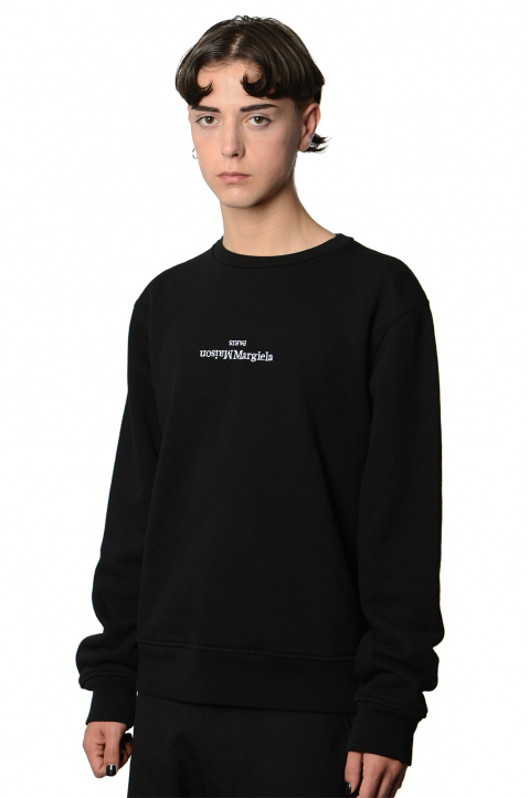 MAISON MARGIELA Inverted Black Sweatshirt  0