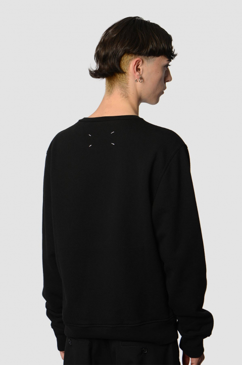 MAISON MARGIELA Inverted Black Sweatshirt  1