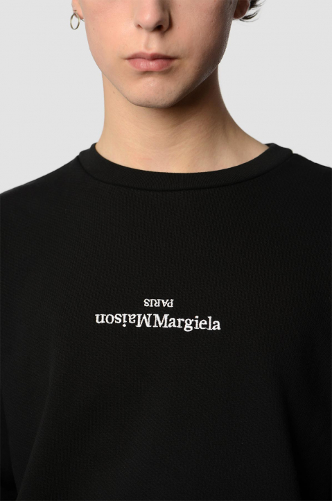 MAISON MARGIELA Inverted Black Sweatshirt  2