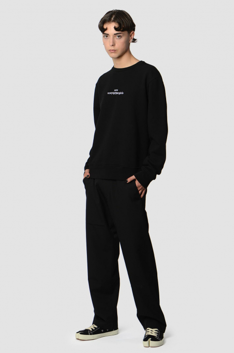 MAISON MARGIELA Inverted Black Sweatshirt  3