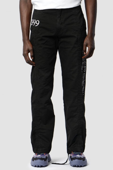 OFF-WHITE Contour Cargo Black Trousers 1