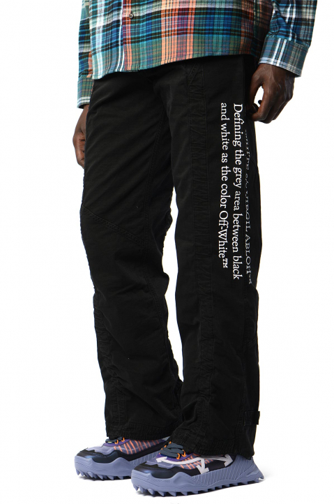 OFF-WHITE Contour Cargo Black Trousers 0