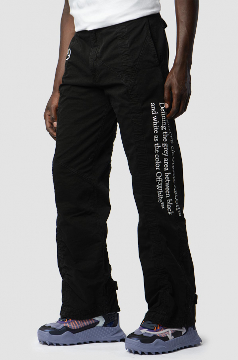 OFF-WHITE Contour Cargo Black Trousers 3