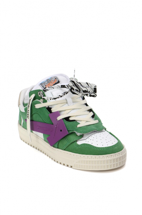 OFF-WHITE Off-Court Low Green/Purple Sneakers 1