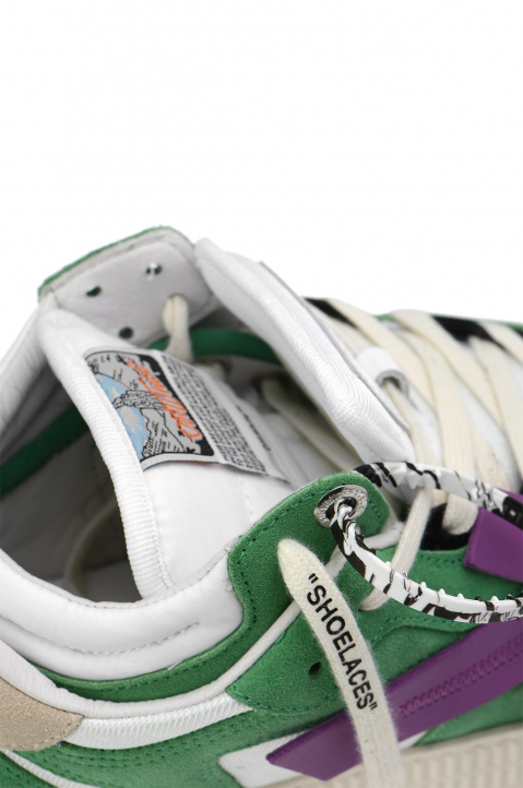 OFF-WHITE Off-Court Low Green/Purple Sneakers 3