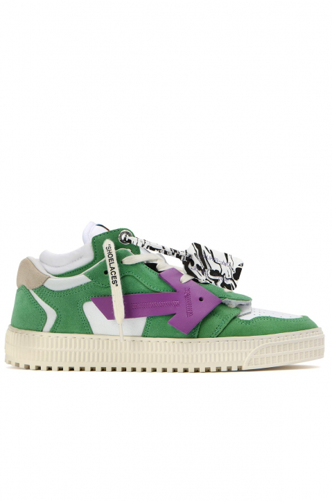 OFF-WHITE Off-Court Low Green/Purple Sneakers 0