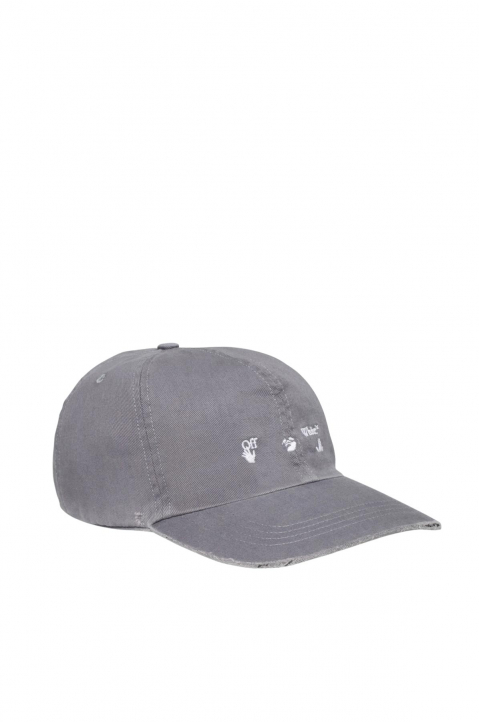 OFF-WHITE Hands Logo Grey Baseball Cap 0