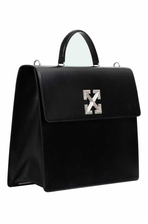 OFF-WHITE Jumbo Jitney Leather Bag  1