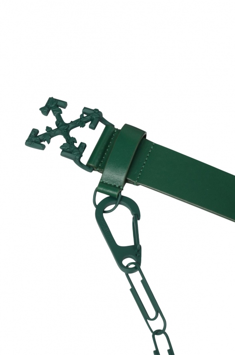 OFF-WHITE Chain Arrows Dark Green Belt  2