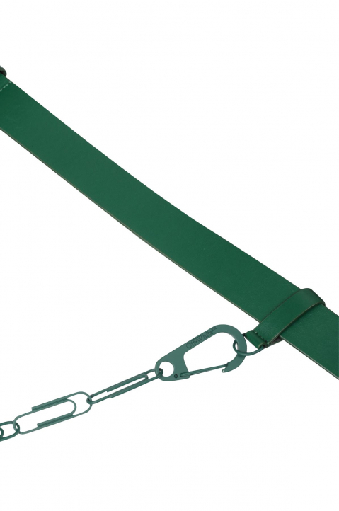 OFF-WHITE Chain Arrows Dark Green Belt  3
