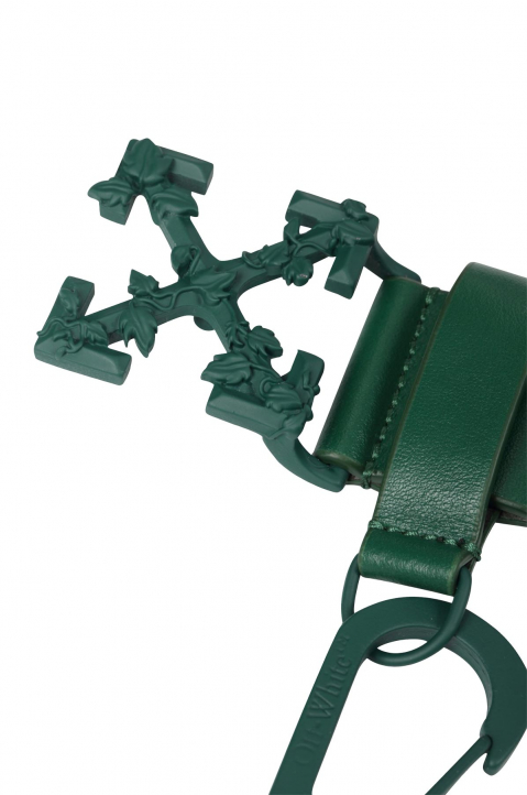 OFF-WHITE Chain Arrows Dark Green Belt  4