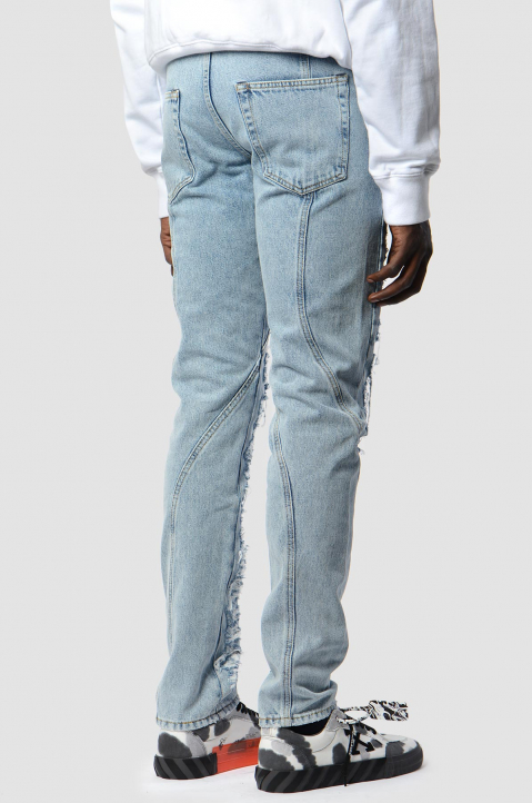 OFF-WHITE Slim Contour Distressed Jeans 2