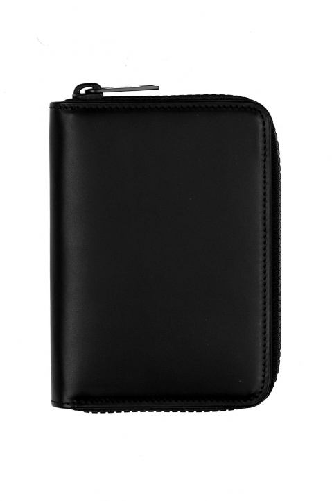 MAISON MARGIELA Zip-around Black Leather Wallet 1