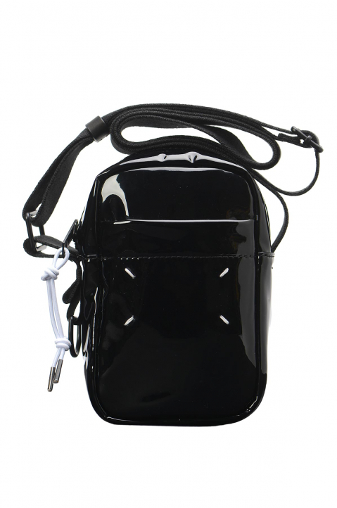 MAISON MARGIELA Black PU Crossbody Bag 0